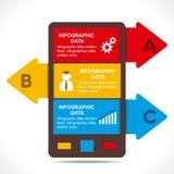 Diseño creativo de los información-gráficos del negocio Fotos de archivo libres de regalías