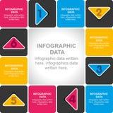 Diseño creativo de los información-gráficos del negocio Imágenes de archivo libres de regalías