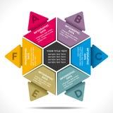 Diseño creativo de los información-gráficos del negocio Fotografía de archivo