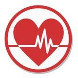 Pulso de la etiqueta del corazón Foto de archivo libre de regalías