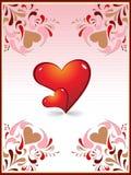 Diseño creativo del corazón de la tarjeta del amor Fotografía de archivo