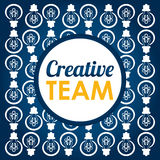 Diseño creativo del equipo Fotos de archivo