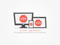 Diseño creativo del error de la página web 404 Imagenes de archivo