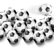 Diseño creativo del fútbol Foto de archivo
