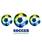 Diseño creativo del fútbol stock de ilustración