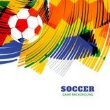 Diseño creativo del fútbol ilustración del vector