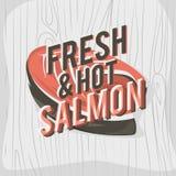 Diseño creativo del logotipo con el filete de color salmón Ilustración del vector Imágenes de archivo libres de regalías