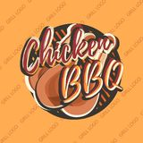 Diseño creativo del logotipo con las piernas de pollo Ilustración del vector Imágenes de archivo libres de regalías