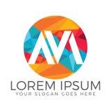 Diseño creativo del logotipo de la letra M Fotografía de archivo