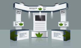 Diseño creativo del soporte de la exposición Plantilla comercial de la cabina Vector de la identidad corporativa Fotografía de archivo