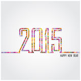 Diseño creativo del texto de la Feliz Año Nuevo 2015 Foto de archivo