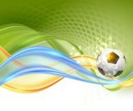 Diseño creativo del vector del fútbol Imagenes de archivo