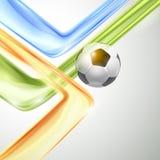Diseño creativo del vector del fútbol Imágenes de archivo libres de regalías