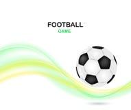 Diseño creativo del vector del fútbol Balón de fútbol con Imagen de archivo