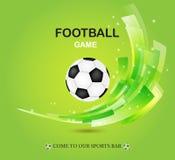 Diseño creativo del vector del fútbol en verde Imagen de archivo libre de regalías