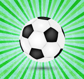 Diseño creativo del vector del fútbol en verde Foto de archivo libre de regalías