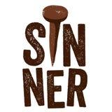 Diseño cristiano del vintage, pecador ilustración del vector