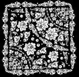 Diseño cuadrado con las flores blancas ilustración del vector