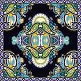 Diseño cuadrado de seda auténtico del modelo de la bufanda o del pañuelo de cuello en u libre illustration