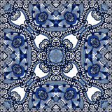 Diseño cuadrado de seda del modelo de la bufanda o del pañuelo de cuello Imagenes de archivo