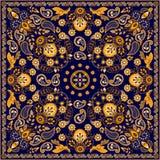 Diseño cuadrado floral de Paisley del vector ilustración del vector