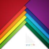 diseño 3d con las banderas del color/la plantilla de la presentación Fotos de archivo