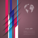 diseño 3d con las rayas del color Libre Illustration
