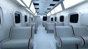 Interior futurista del metro Fotos de archivo