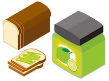 diseño 3D para el atasco del pan y de la cal Fotos de archivo