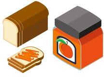 diseño 3D para el pan y el atasco Imagen de archivo
