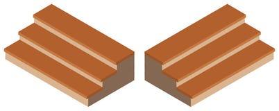 diseño 3D para los pasos de madera Imágenes de archivo libres de regalías