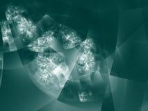Diseño de alta tecnología moderno - el cuadrado Imagen de archivo