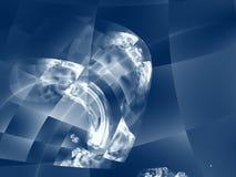 Diseño de alta tecnología moderno - el cuadrado Imágenes de archivo libres de regalías