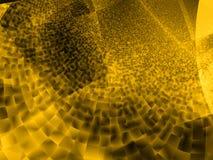 Diseño de alta tecnología moderno - evolución del oro Imágenes de archivo libres de regalías