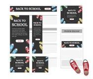 Diseño de banderas del web de diversos tamaños estándar stock de ilustración