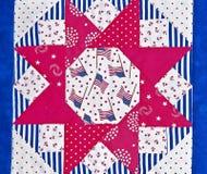 Diseño de bloque americana del edredón Fotografía de archivo libre de regalías