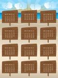 diseño de 2015 calendarios con las muestras de madera Foto de archivo