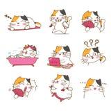 Diseño de carácter bonito de los gatos libre illustration