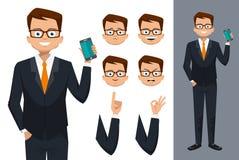 Diseño de carácter del hombre Imagen de archivo