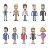 Diseño de carácter del hombre y de la mujer de negocios Fotos de archivo libres de regalías