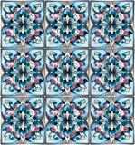 Diseño de cerámica étnico de la acuarela Fotografía de archivo