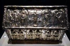 Diseño de Christian Relic Silver Trunk Pictorial Fotografía de archivo