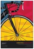 Diseño de ciclo del cartel Imágenes de archivo libres de regalías