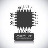 Diseño de circuito stock de ilustración