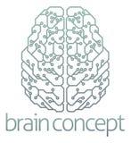 Diseño de circuito de ordenador del cerebro Imágenes de archivo libres de regalías