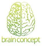 Diseño de circuito eléctrico del cerebro Foto de archivo libre de regalías
