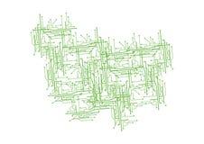 Diseño de circuito - vector Fotos de archivo