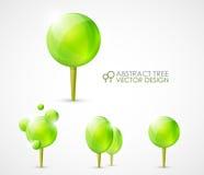 Diseño de concepto abstracto del árbol ilustración del vector
