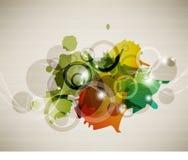 Diseño de concepto abstracto multicolor Fotografía de archivo