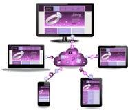 Diseño de concepto computacional de la nube stock de ilustración